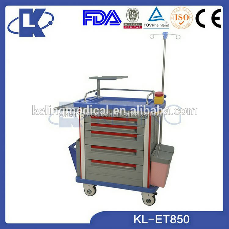 abs medical trolleys emergency room equipment anestesia machine clinic hospital trolleys for medicine