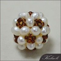 DIY 17mm big freshwater cotton pearl wholesale
