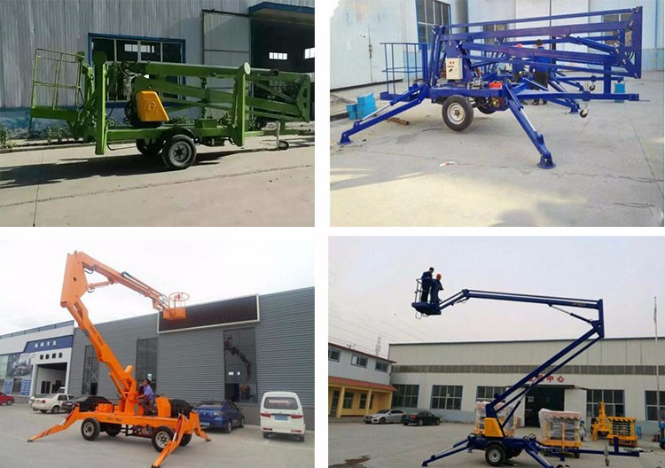 Trailer mounted work platform/mobile boom lift