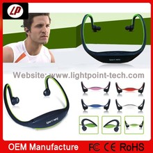 2014 hot sale new model headset sports wireless mp3 player