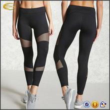 Ecoach high quality ative mesh panel bodybuilding running yoga wholesale custom sports fitness leggings for women