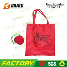 Nylon customized eco flower reusable shopping bag folding nylon bag DK-DW104