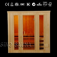 Traditional sauna room red cedar outdoor Finnish steam saunas manufacturing for distributor (CE/ISO/TUV/FSC/ETL/RoHS)