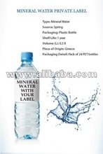 PRIVATE LABEL MINERAL WATER GREECE