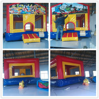 inflatable combo with slide,bouncy castle jumping