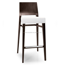 white fabric wooden furniture designs for bar HDB489