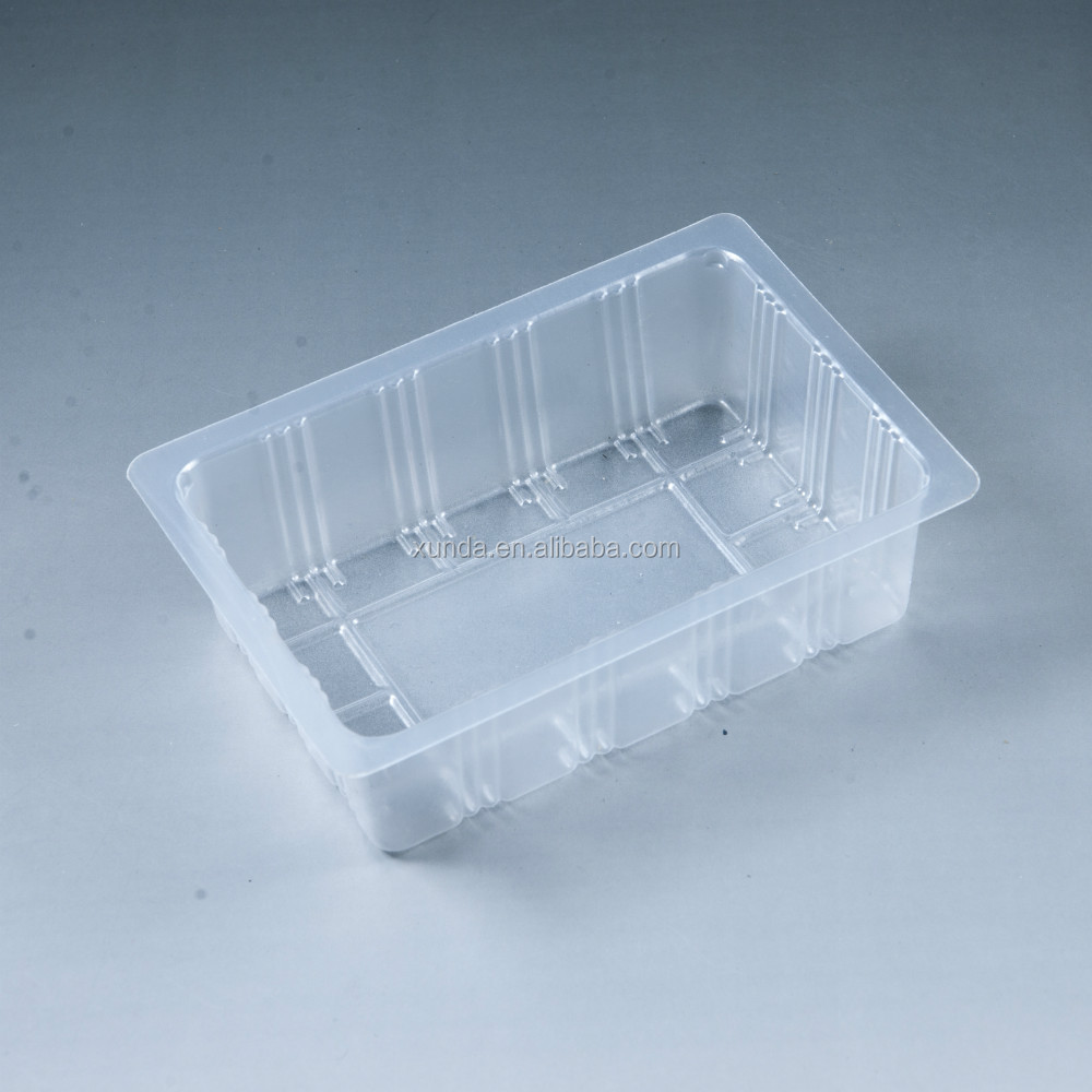 Plastic food packing box for tofu