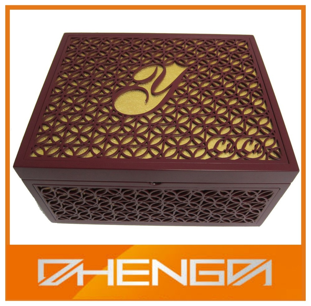 High quality Arabic Laser Engraved Box Display Wood Box