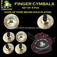 Belly Dance Finger Cymbals / Zills set of 4 PCs with pouch