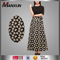 Modern Muslim Islamic Clothing for Women Half Sleeve Black & White Floral Print Maxi Dress Two Pieces