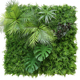 2019 advanced natural real touch UV-proof green plant wall/artificial green fence for garden decoration
