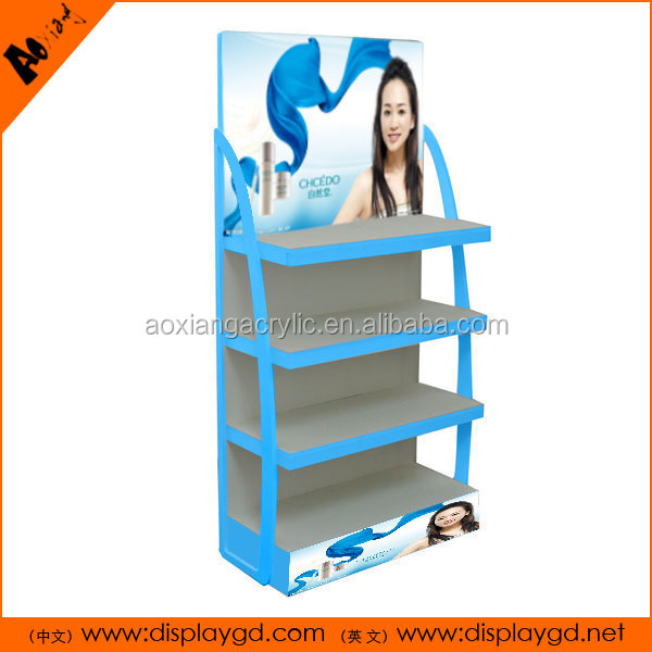 PVC 4 Tiers Skin care counters cosmetic Display Stand