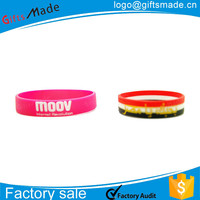 Custom good for healthy blood circulation silicone wristband for promotion