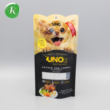 Custom printing stand up pouch zip top dog food packaging bag