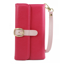 fashion cases strap wallet case flip cover with card slot for iphone 5 6 7 8 plus x