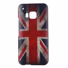 UK National Flags Printable Mobie Phone Case Hard Plastic Cover for HTC ONE M9