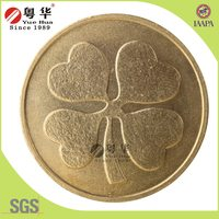 Factory price wholesale gold color brass token for vending game machine