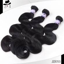 Unprocessed peruvian human hair unlimited,wet and wavy bulk hair,virgin hair weave color #27