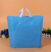 Customized LDPE plastic carry handle bag design making raw material
