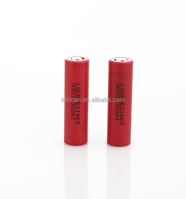 Wholesale high drain discharge 20A LG 18650 HE2 2500mah 3.7V Li ion cell e cig e- bike /car/scooter power tool battery cell