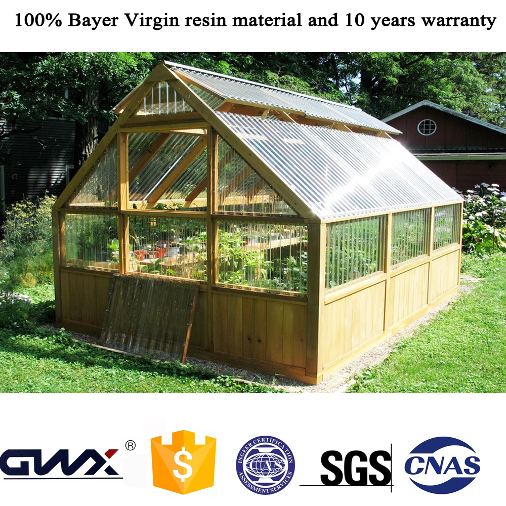 Lexan 6mm Twin-wall Skyblue Polycarbonate Greenhouse Glass Hollow Sheet