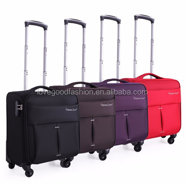 2016 High Quality Polyester Oxford Laptop Trolley Luggage Personal Computer Trolley Bag