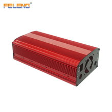 Amplifier alluminium heatsink enclosure red aluminium electronic extruded case