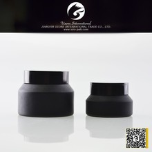 Slanted frosted black glass jars wholesale canada