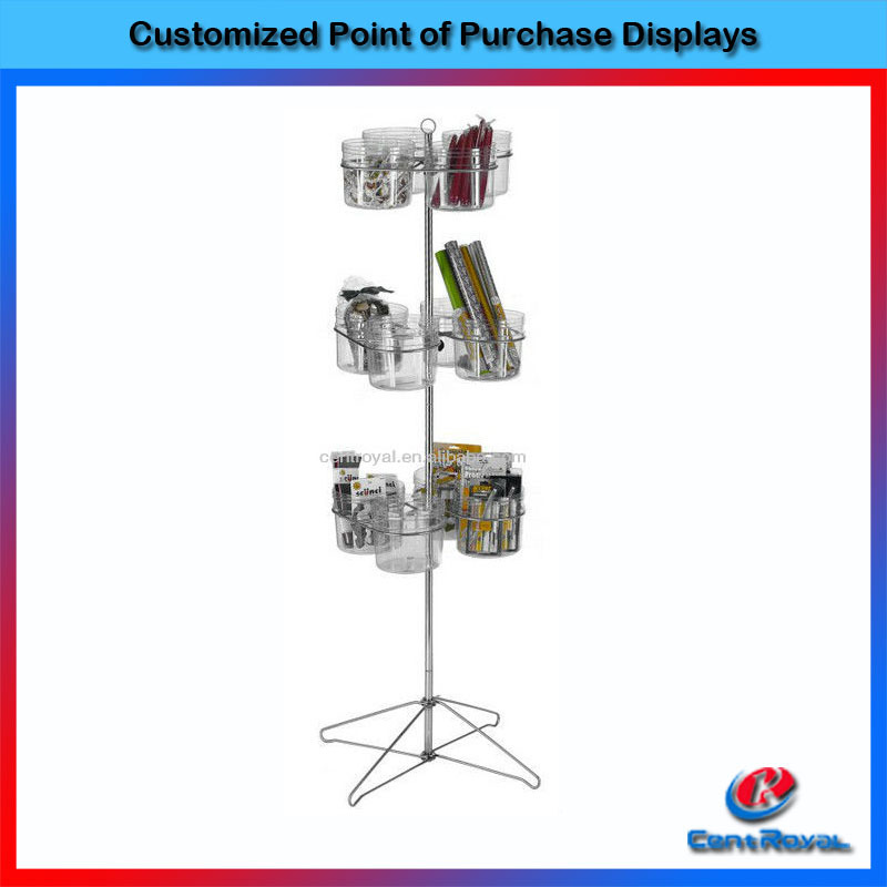Retail store free standing car and phone accessories display rack