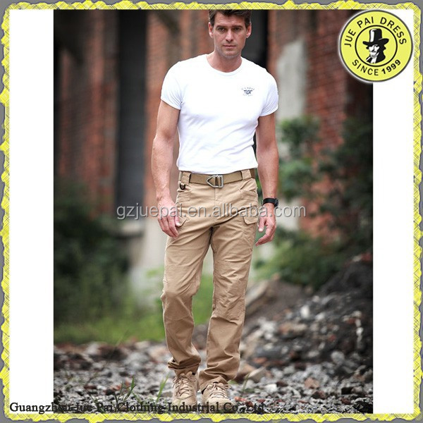 Hot selling Khaki Workwear Trousers Cargo Pants With a lot of Pockets Whole sales Men high Quality