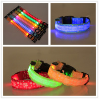 Safe High Visible decorative Christmas Flashing Pet LED Dog Collar