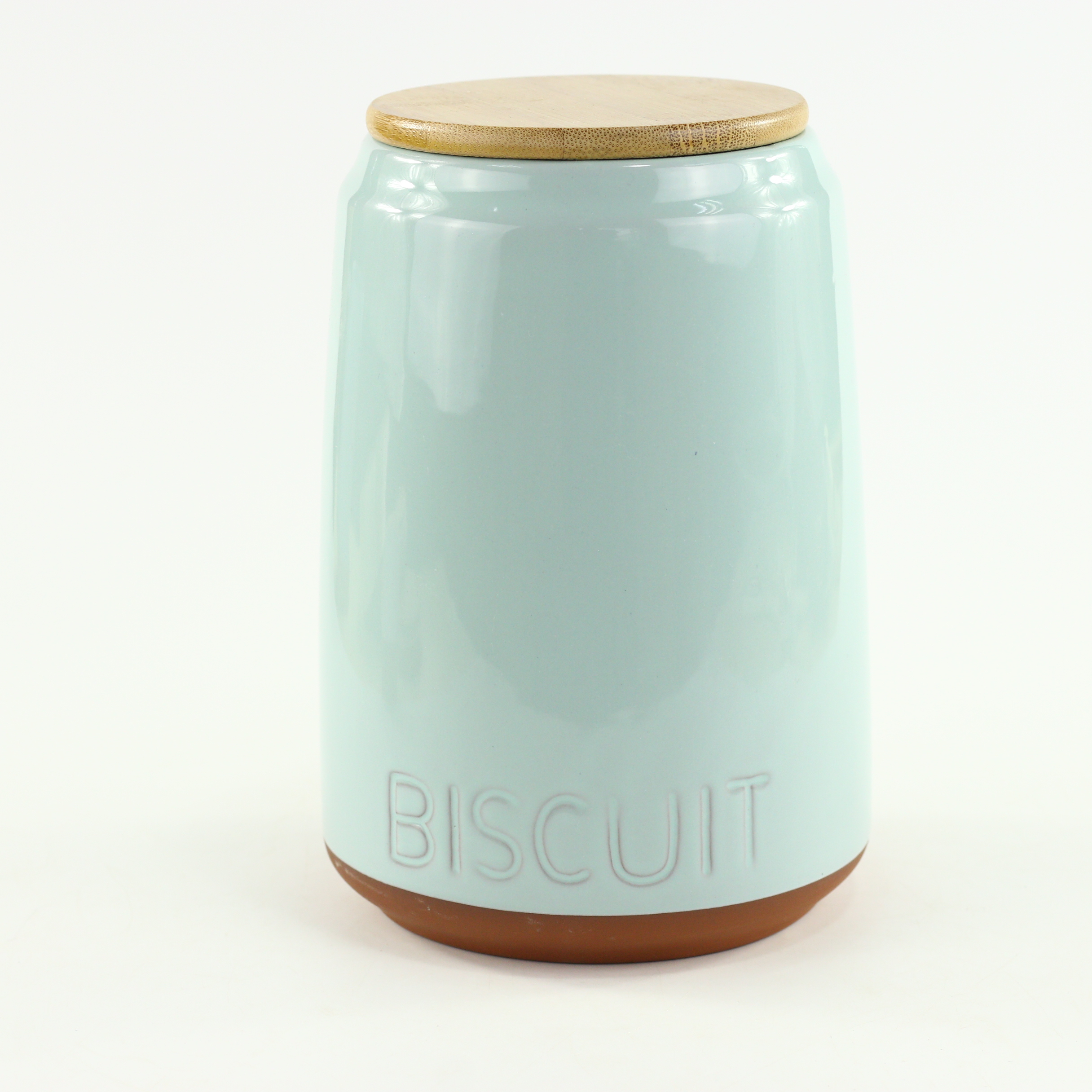 Green Color Intaglio  Logo Artwork Design Customized Clay Storage Jar Terracotta Biscuit Canister