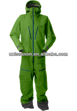 Green men custom ski speed suit