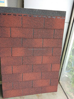 New Asian Red Flexible Asphalt Roofing Shingles at Lower Price