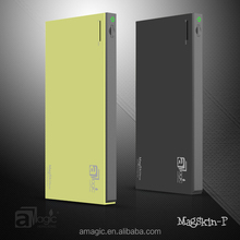 2015 Hot selling!! CE, RoHS, FCC Approved MagSkin-P06 6000mAh Dual USB Port Slim Powerbank