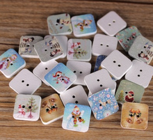 Christmas color square button cartoon buttons children's creative kindergarten DIY material
