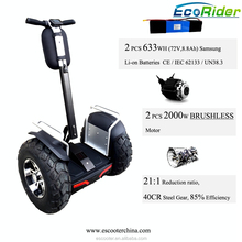 21-inch double battery 1266WH brushless 4000W price electric chariot 2 wheels rc amphibious chariot
