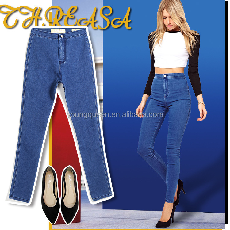 AZ16 Europe ladies jeans top design stretch slim candy jeans pent pants