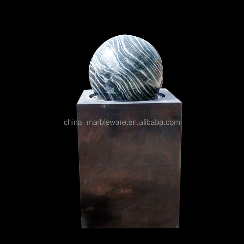table top marble floating round ball water fountain for sale