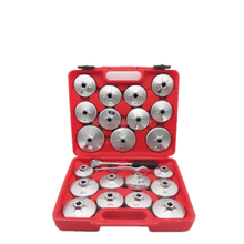 23pcs aluminium cup type removal oil filter wrench socket set for auto repair