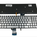 Hot Sale Silver Backlit Laptop Keyboard for ASUS Q501 US language Keyboard 0KNB0-662LUS00