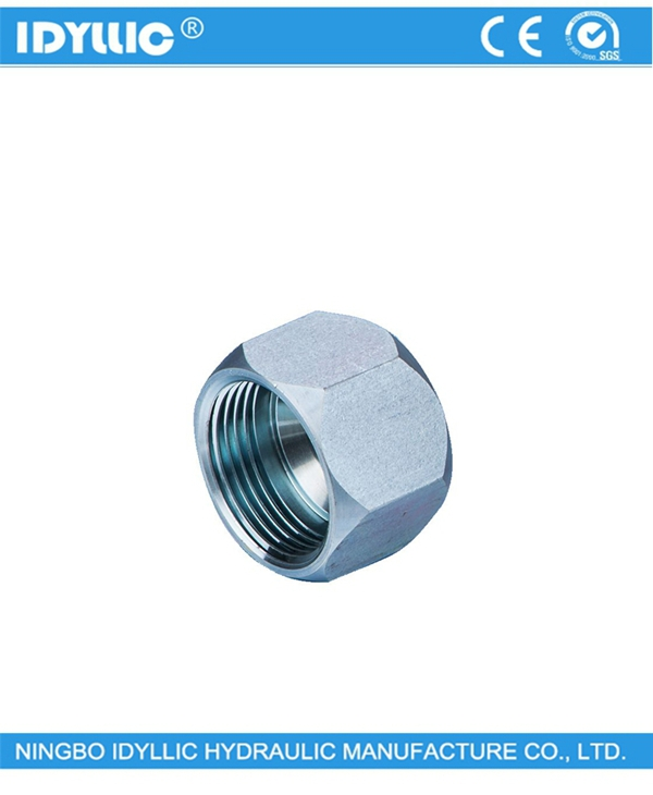 Hydraulic fitting JIC 74 degree female plug
