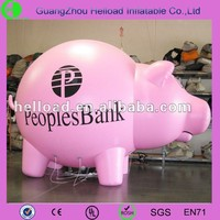 inflatable pink famous cartoon pigs wholesale