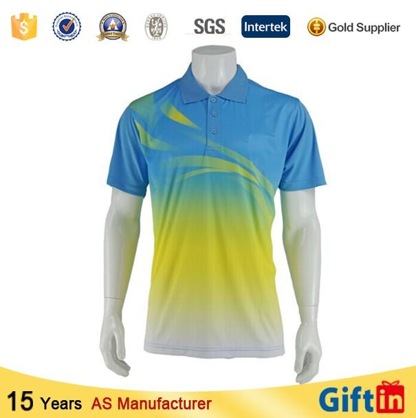 Custom Dry Fit 100 Polyester Spandex Mens Polo Shirt