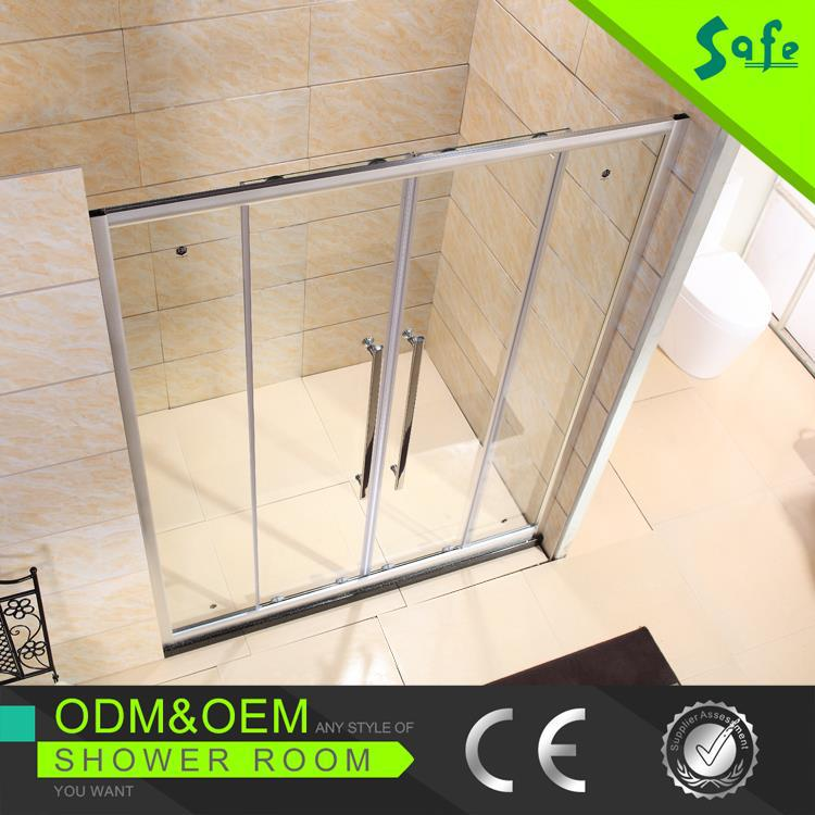 New design Double Sliding Shower Door With Frame manufacture in Foshan