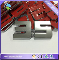 chrome digital car emblem, ABS chrome matt digital emblem with 3M adhesive