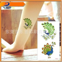 Water Transfer Temporary Sticker Peacock Feathers Fake Tattoo Women Sexy Arm Shoulder Waterproof peacock Tattoo Sticker