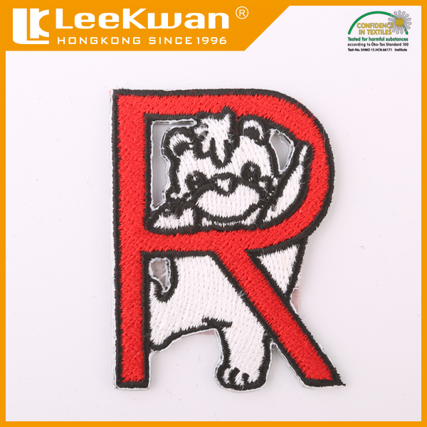 custom fabric plain embroidery patch for baby