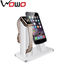 2 in 1 Aluminum Displaying Holder Stand Desktop Docking Station watch holder for Apple Watch for iPhone 6
