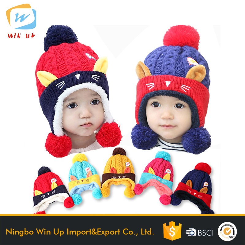 WINUP crocher baby beanies knit hat winter hat knitted beanie